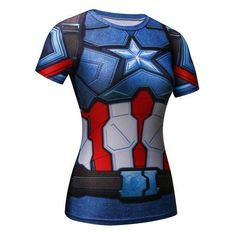 Captain America 3D Graphic T-Shirt for Women