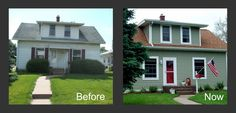 You've gotta see these before and after photos from this foreclosed property renovation. DIY renovation in action.