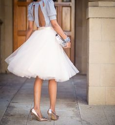 tulle skirt | The Style Fairy