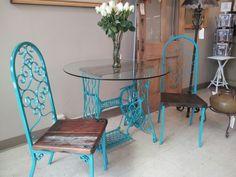 Old sewing machine retro 1960's chairs #redouxhomemarket