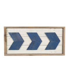 Take a look at this Navy Chevron Arrows & Whitewash Wood Wall Décor today!