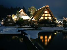 Shirakawago, Toyama pref.   World Heritage in 1995