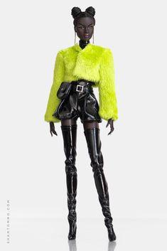 Barbie Mode, Beautiful Black Babies, Beautiful Barbie Dolls, Black Barbie, Doll Shoes, Material Girls, Fashion Graphic, Fur Jacket, Barbie Clothes