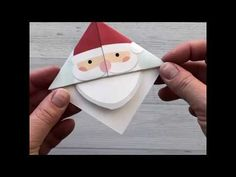 Printable Christmas origami bookmarks - It's Always Autumn