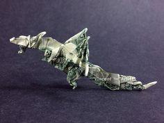 Money Origami Fiery Dragon - Dollar Bill Art