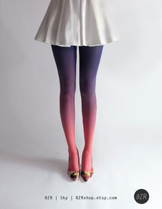 really awesome Etsy listing at http://www.etsy.com/listing/152055567/bzr-ombre-tights-in-sky