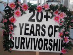 Signs for Survivor Parade