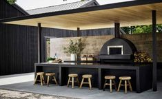 Kimpton Hotels' newest outpost in Toronto, Kimpton Saint George Hotel is designed by Mason Studio and it's full of pieces by top Canadian design talent Outdoor Bbq Kitchen, Outdoor Kitchen Design, Outdoor Dining, Outdoor Barbeque, Outdoor Rooms, Ideas Terraza, Backyard Patio Designs, Design Case, New Homes