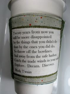 Coffee Cozy Catch the Trade Winds in your sails by CreamNoSugar, $9.50