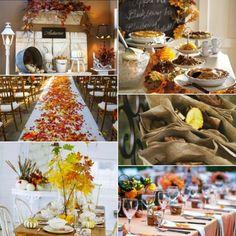 Fall leaves wedding decoration