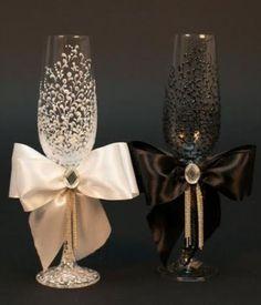 lindas taças decoradas para casamento no pinterest - Pesquisa Google