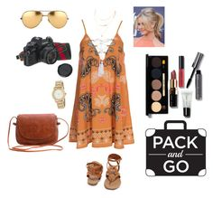 """""""Fun in the sun"""" by meeps01 ❤ liked on Polyvore featuring Kiss The Sky, Bobbi Brown Cosmetics, Breckelle's, DKNY, American Eagle Outfitters and Linda Farrow"""