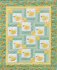 Turn Around Baby ducky quilt pattern
