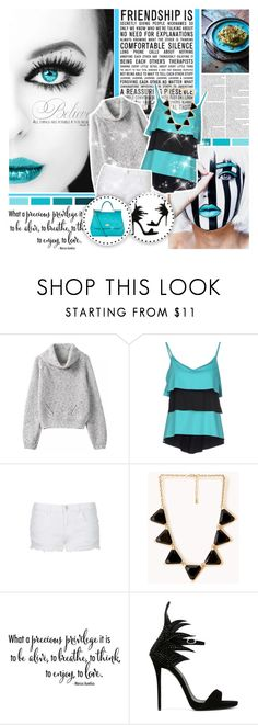 """""""Believe"""" by mlucyw ❤ liked on Polyvore featuring FISICO Cristina Ferrari, Topshop, Forever 21, Jamie Oliver, Giuseppe Zanotti, Dolce&Gabbana, women's clothing, women, female and woman"""