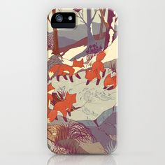 Fisher Fox by Teagan White as a high quality iPhone & iPod Case. Free Worldwide Shipping available at Society6.com from 11/26/14 thru 12/14/14. Just one of millions of products available.