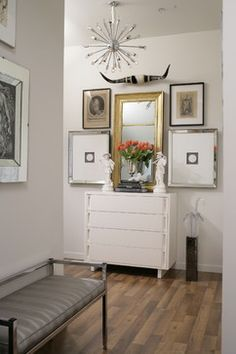 Gold and silver. New England Home Stamford Magazine Shoot - transitional - hall - new york - Tiffany Eastman Interiors, LLC