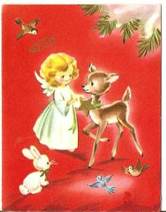Vintage Christmas card. 1950s greeting card. Vintage by DarnSweet, £0.75
