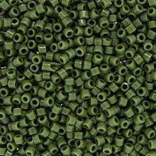 Size 11 Opaque Avocado Green Delica Beads - DB1135