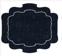 "Parentesi by La Gallina Matta Ottocento Black Coated Linen Placemat 19"" W x 16 ½"" H - Ottocento Placemats - La Gallina Matta - Shop by Designer"