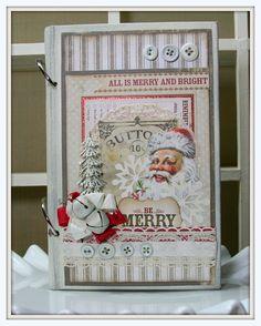 Vintage Inspired CHRISTMAS SMASH Book ART  Journal by PollysPaper, $47.00