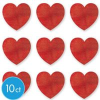 valentines day decorations party city glitter heart cutouts 10ct 3 34in cardstock - Party City Valentine Decorations