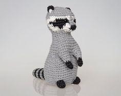 (4) Name: 'Crocheting : Raccoon Amigurumi/Crochet Pattern