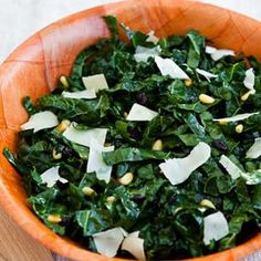 Kale Salad with Pine Nuts, Currants and Parmesan | Williams-Sonoma