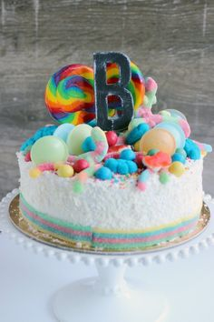 Rainbow lolly cake l