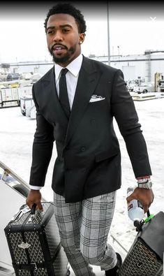 Awesome 40 Flawless Black Men Style Ideas That Looks Modern Gentleman Mode, Dapper Gentleman, Gentleman Style, Gentleman Fashion, Sharp Dressed Man, Well Dressed Men, Sharp And Dapper, Mens Fashion Suits, Mens Suits