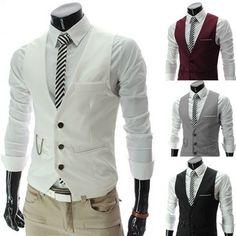 8f7ca18c3deb3 New arrival vest men formal casual slim fit suit ᓂ vest business Leisure  Waistcoat chaleco V-neck Vest Coat white black red grey New arrival vest men  ...