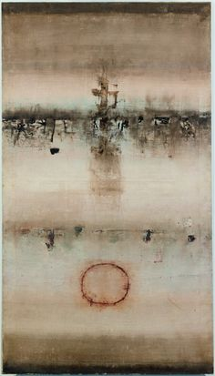 Vasudeo Santu Gaitonde. Untitled, 1963. Oil on canvas, 72 x 42 in (182.9 x 106.7 cm). Private collection. © Solomon R. Guggenheim Foundation, New York. Photograph: Kristopher McKay.