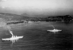 USS Saratoga (CV-3) and USS Lexington (CV-2) off Oahu c1930