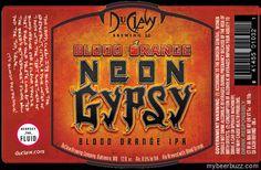 mybeerbuzz.com - Bringing Good Beers & Good People Together...: DuClaw - Blood Orange Neon Gypsy IPA 12oz Bottles