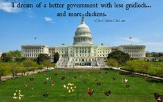 I dream of a better government with less gridlock, and more chickens.