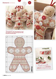 noël - christmas - personnage - point de croix - cross stitch - Blog : http://broderiemimie44.canalblog.com/