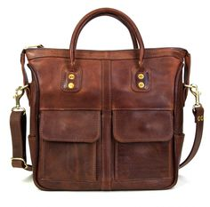 J.W. Hulme Mini-Excursion Tote (Gorgeous leather handmade in St. Paul with a lifetime guarantee)