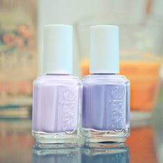 Essie lavender nail polishes