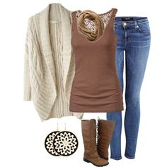 All bundled up by borntoread on Polyvore