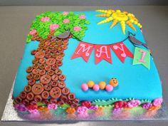 Spring 1st birthday cake - Torte per Tutti