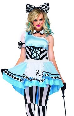 Buy Adult Psychedelic Alice Costume, available for Next Day Delivery. Our Adult Psychedelic Alice Costume comes complete with a Asymmetrical High/Low Apron Dress with a Layered Skirt and Lace Up Waist Cincher Detail. Costume Alice, Costume Dress, Alice Cosplay, Alice Halloween, Halloween Dress, Halloween Costumes, Maid Costumes, Disneyland Halloween, Cosplay Costumes