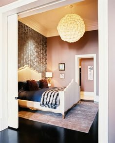 LOVE this Anthro pendant light in a bedroom....was just thinking of this and voila...there it is!