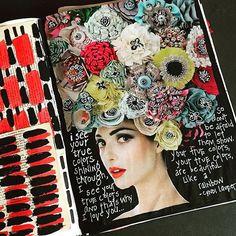 Art journal page from nullsie