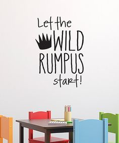 This 'Wild Rumpus' Wall Quotes™ Decal is perfect! #zulilyfinds