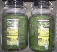 Candles 46782: 2 Yankee Candle 22 Oz Ounce Emerald Isle Jar Lot 2X -> BUY IT NOW ONLY: $45.95 on eBay!