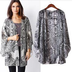 black and white kimono clothing - Google Search