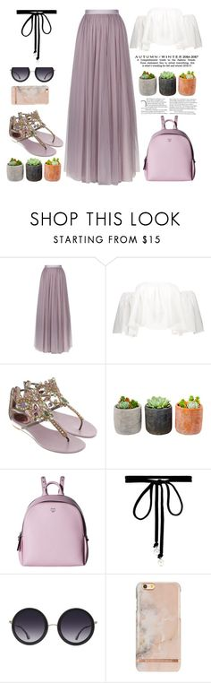 """Hello MAY"" by naomy-nona ❤ liked on Polyvore featuring Needle & Thread, René Caovilla, Shop Succulents, MCM, Joomi Lim and Alice + Olivia"