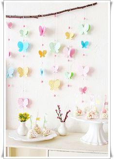 Бабочки в интерьере - милая идея