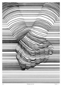 Line Work – Nester Formentera Realism Artists, Drawing Projects, Black And White Drawing, Hippie Art, Ink Pen Drawings, Elements Of Art, Op Art, Line Drawing, Line Art
