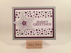 libbystamps, Bright & Beautiful Stamp Set, Stars Framelits, Confetti Stars Punch, Christmas