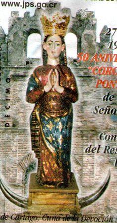 Virgen de Ujarrás, Primera Patrona de Costa Rica, Iglesia de Paraíso, cartago, Costa Rica.  Loterìa conmemorativa